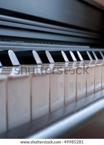 Keys piano - stock photo