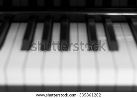 Keys Piano Blur Picture Style - stock photo