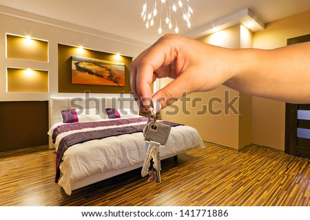 Keys to modern apartment - stock photo