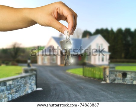 Keys to new home - stock photo