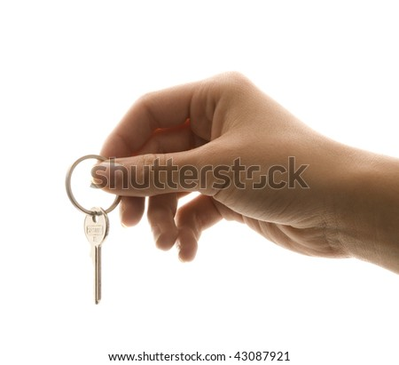 Keys to Success with Female Hand - stock photo