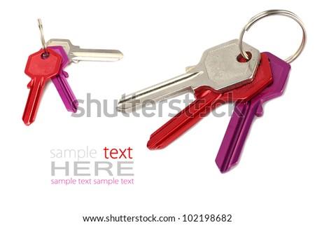 Keys to the apartment. - stock photo