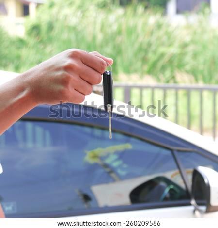 Keys to the car. - stock photo