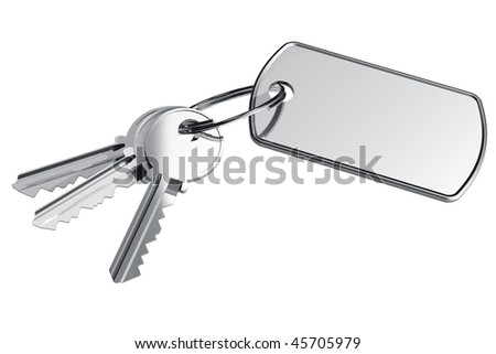 Keys with label - stock photo
