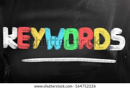 Keywords Concept - stock photo