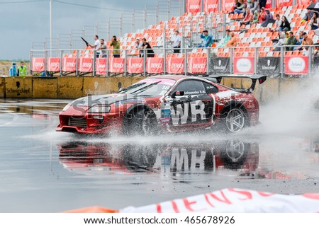 Khabarovsk Russia Jul 9, 2016 : Russian Drift Series Stage 4 RDS Vostok 2016