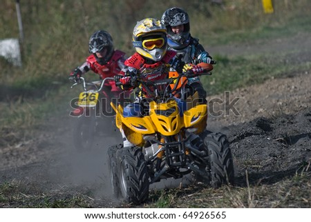 """KHABAROVSK RUSSIAN - SEPTEMBER 26: Mordokovich Vitaly in action at  The second stage of the Khabarovsk enduro """"KHABARIGENS 2010 on September 26, 2010 in Khabarovsk Russia - stock photo"""