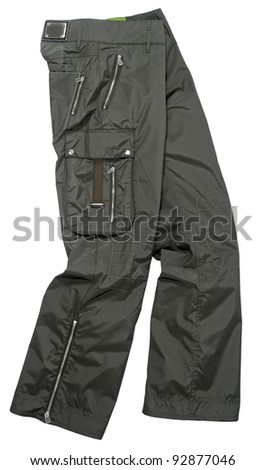 khaki pants - stock photo