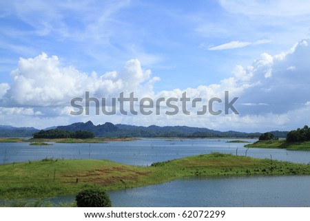 Khao Laem National Park in Kanchanaburi, Thailand - stock photo