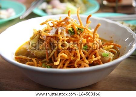 Khao soi - Traditional Thai Food - stock photo