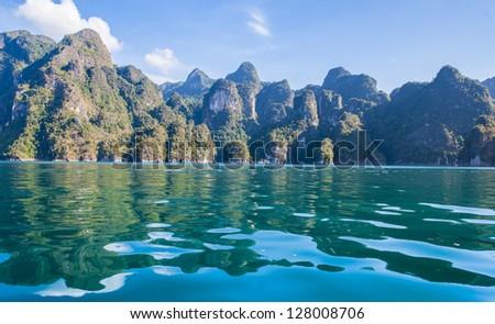 khao sok national park at suratthani,Thailand - stock photo