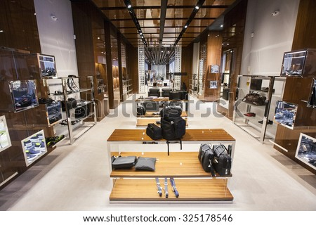 KHARKOV, UKRAINE - 7 MAY 2014: accessories store interior - stock photo