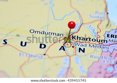 Khartoum Pinned On Map Sudan Stock Photo (Edit Now) 439455745 ...