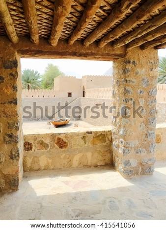 Khasab castle, Musandam peninsula, Oman  - stock photo