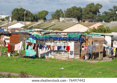 KHAYELITSHA, TOWNSHIP CAPE TOWN SOUTH AFRICA - stock photo