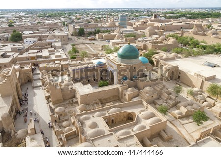 KHIVA UZBEKISTAN - view of the old city