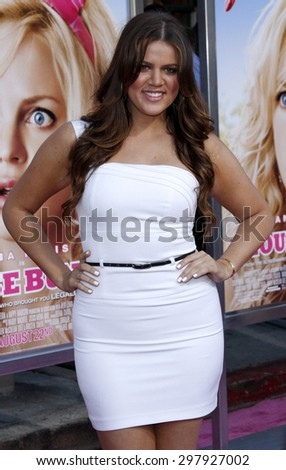 Khloe Kardashian at the Los Angeles premiere of 'House Bunny' held at the Mann Village Theatre in Westwood on August 20, 2008.