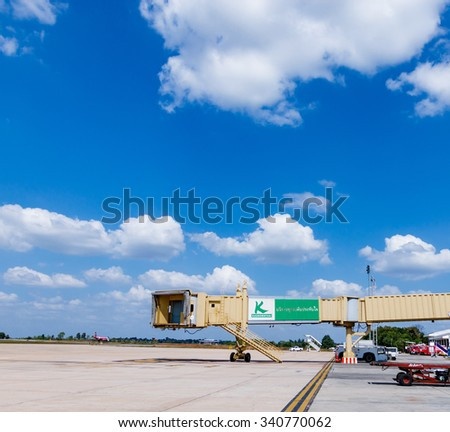 Khon Kaen,Thailand - November 5, 2015 : Low cost airline domestic,Now the popular because cheapness,convenient and for a moment expedition. - stock photo