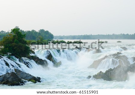 Khon Phapheng Waterfall, Champasak, Southern of Laos - stock photo
