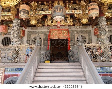 Khoo Kongsi Temple in George Town, Penang, Malaysia - stock photo