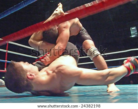 kickboxing - stock photo