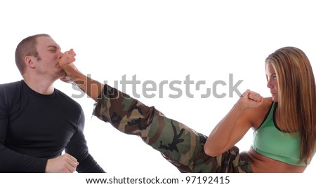 Kickboxing Power - stock photo