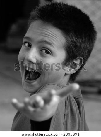 Kid actor...ta-da! - stock photo