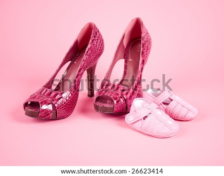 kid and adult female shoes