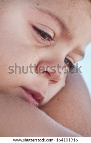 kid cry  - stock photo