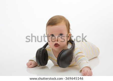 Kid dj - stock photo