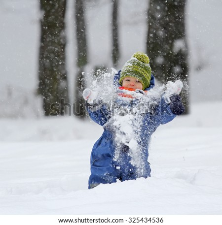 Kid enjoying the snow