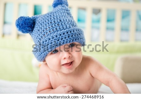 Kid, infant, bear. - stock photo
