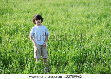 Kid on meadow