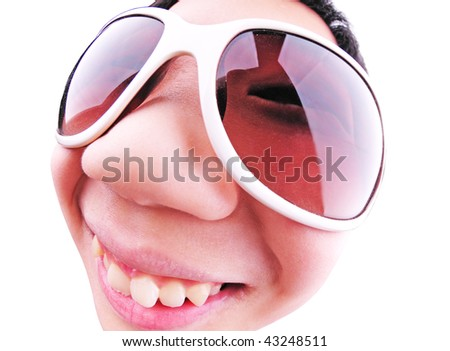 kid on sunglasses - stock photo