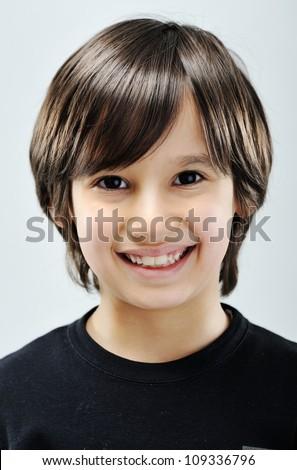 Kid portrait - stock photo