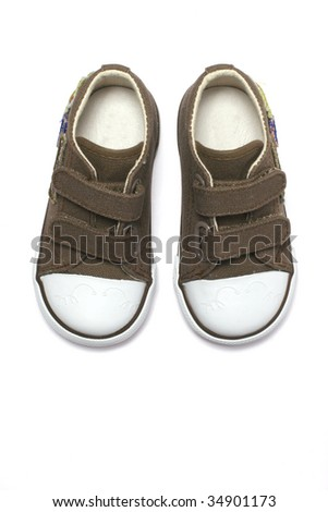 kid sport shoes - stock photo