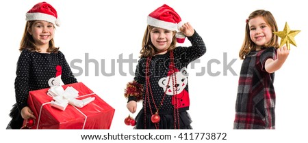 Kid with Christmas elements