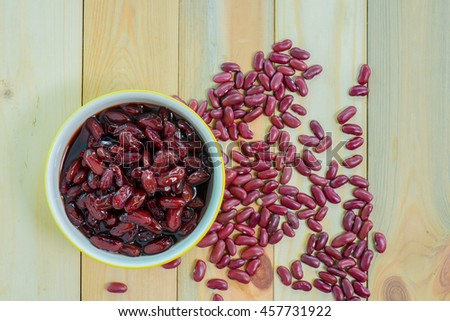 Kidney beans in syrup.