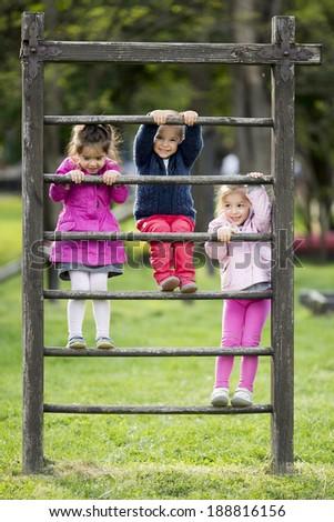 Kids at playground - stock photo