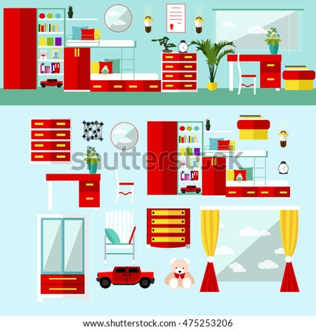 Stock vector vertical illustration isolated conveyor stock for Room design elements