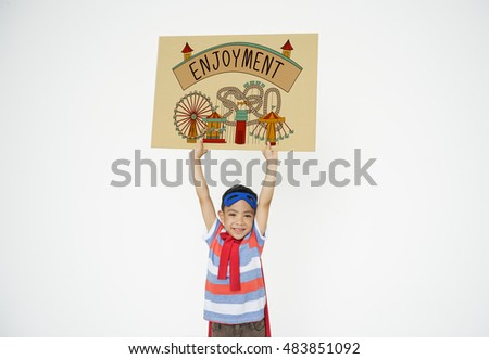Kids Enjoyment Happiness Fun Graphic Concept