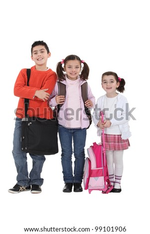 Kids going back to school. - stock photo