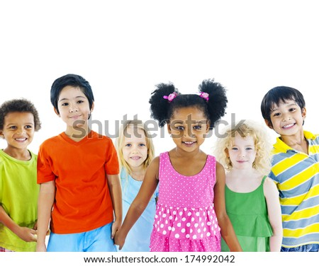 Kids Holding Hands - stock photo