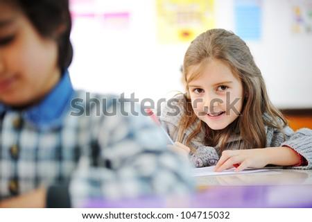 Kids in school - stock photo