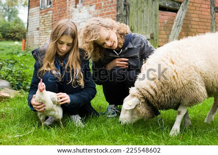 Kids on the farm