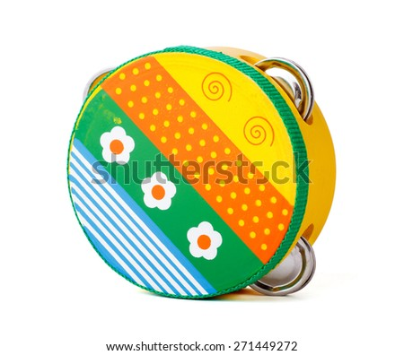 Kids tambourine - stock photo