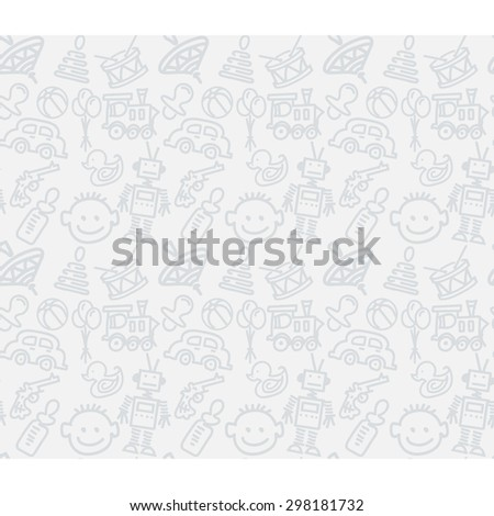 Kids toys. Seamless pattern
