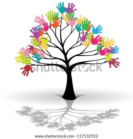 Kids tree - stock photo