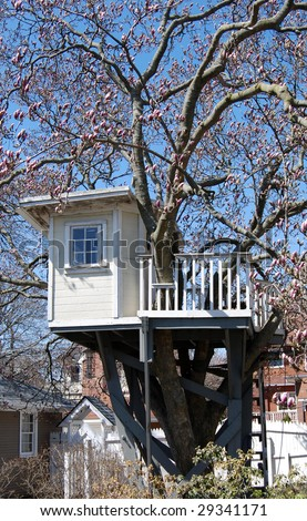 Kids Tree House - stock photo