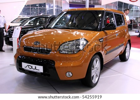 "KIEV - MAY 27: KIA Soul on display at Annual automotive-show ""SIA 2010"" May 27, 2010 in Kiev, Ukraine."
